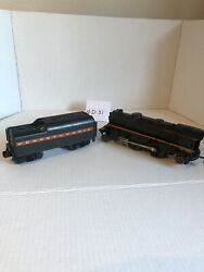 Vintage Lionel Train 0 Gage 027 Engine 250 And Tender Untested