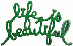Life Is Beautiful By Mr. Brainwash Red Sculpture Signed And Numbered - Rare
