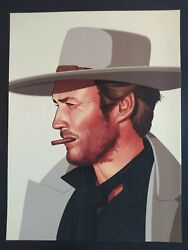 Mike Mitchell Portrait Clint Eastwood Signed Giclee Every Gun Makes Its Own Tune