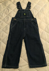 Kids John Deere Denim Overalls/ Size 3t/ Adjustable Shoulder Straps/ Five Pocket