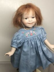 7andrdquo All Bisque Artist Doll By Lona Bolis 7 16/100 Adorable Jointed Redhead Sa