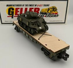 Geller Toy Trains Usax M4a3 Sherman Tank D-day Surrender Normandy O Scale 0-027