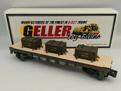 Geller Toy Trains Usax Us Army Flat Car Fort Dix Crates O Scale 0-027 Guage