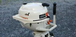 1963 Johnson 3 Hp Outboard Unrestored Unmatched Original Condition Antique Mint