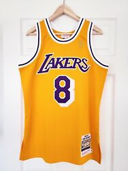100 Authentic Mitchell And Ness Kobe Bryant Los Angeles Lakers 1996-97 Jersey