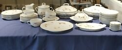 Victoria Austria Pink And White Floral Dinner Dish Set Mark Used 1904-1918 337