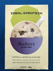 Ideal Protein Blueberry Muffin Mix - 7 Packets - Exp 9/30/21 - Free Shipping