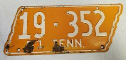 Vintage 1951 Tennessee License Plate - Bradley County Original Paint Vols