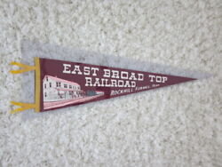 1940's Rockhill Furnace Pa East Broad Top Railroad Illustrated Wool Pennant Mint