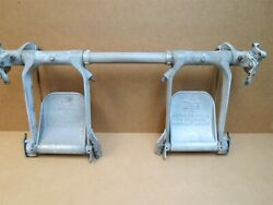 Wwii North American At-6 Snj Aircraft Rear Cockpit Rudder Pedals Cluster
