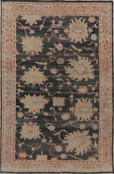 Antique Look Floral Authentic Oushak Turkish Area Rug Vegetable Dye Handmade 6x9