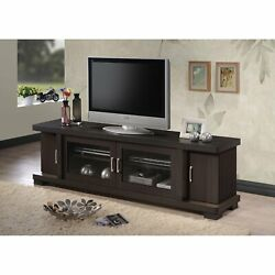 TV Entertainment Center Unit Stand Storage Cabinet Wood Console 70 inch Brown