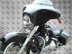 New Headlight Batwing Fairing 4 Speakers And Radio - Harley Touring Motorcycle