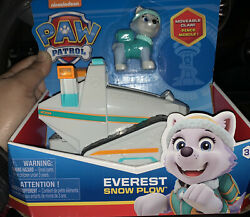 Paw Patrol Everest Snowmobile Snow Plow Vehicle And Figure Pup Gift Toy Girl Boy