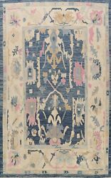 Vegetable Dye Authentic Oushak Turkish Oriental Area Rug Hand-knotted Wool 9x12
