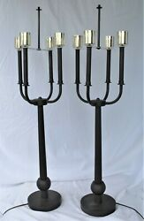Deco /modern Table Lamps ,solid Brass ,bronze Patina ,tall
