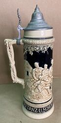 Vintage Beer Stein 3033 Made In Germany French Zone 1-1/2 L Liters 13-1/2andrdquo Tall