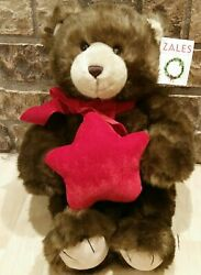 Vintage Zales Holiday Gund Bear For Make A Wish Foundation So Adorable 19