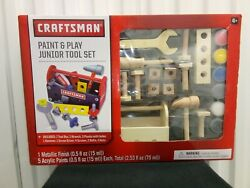 Craftsman Paint And Play Junior Tool 17 Pc Set Kids Pretend Toys New