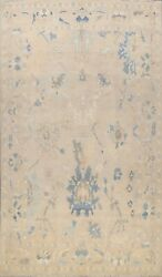 Vegetable Dye Geometric Floral Oushak Turkish Hand-knotted Large Area Rug 10x14