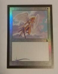 Tormented Angel - Foil - Mtg - Urzd - Nm - Textless Test Print 4 Square Corners