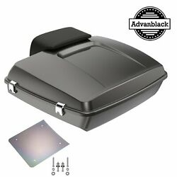Advanblack Silver Flux Razor Tour Pack Trunk Luggage For Harley 1997-2020