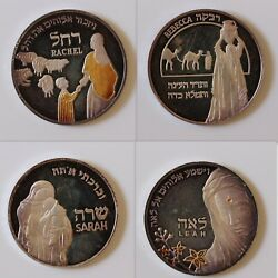Israel 2007-2008 Set Mothers In The Bible 4 Silver Medals 20g 40mm 250 Mintage