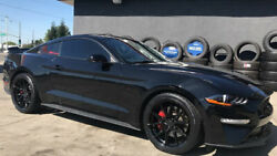 """20"""" Rohana Rfx13 Black Concave Wheels Rims For Ford Mustang Gt 20x9 / 20x11"""