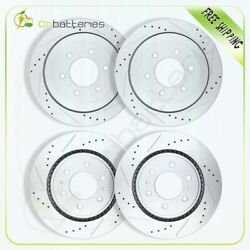 Front And Rear Brake Discs Rotors For Ford Expedition Lincoln Navigator Drilled