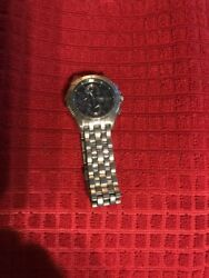 Authentic Seiko Premiere Chronograph Menand039s Watch - 7t85-0ab0