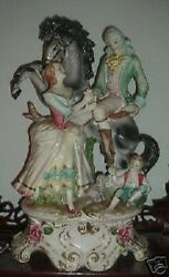 Capodimonte Family With Horse Figurine - Made In Italy