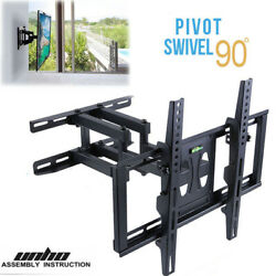 Dual Arm Tv Wall Mount Plasma Flat Screen Bracket For Most 32-65 Led Lcd Oled