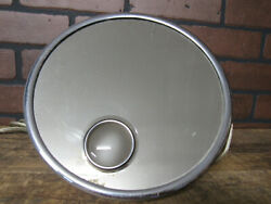 Vintage Antique Brot Miroiterie Wall Mount Swivel French Shaving Mirror Lighted