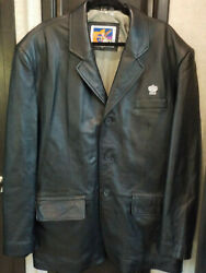 2xl Mens Hard Rock Hotel And Casino Coat 100 Real Leather Fully Lined Jacket