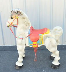 Vintage Mobo Bronco Metal Ride On Toy Horse Original Made In England