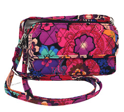 NWT VERA BRADLEY All In One Crossbody For Iphone 6 in FLORAL FIESTA Retired $39.99