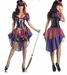 Party King Sexy Witch Body Shaper Costume Halloween Mad Hatter Size S Pk133
