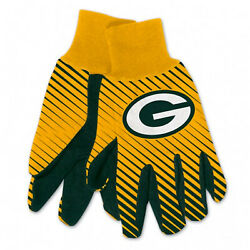 New Licensed Football Yellow And Green Green Bay Packers Gripped Utility Gloves