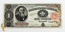 1891 Us Treasury 1 Dollar Note F+ To Vf Fine Plus To Very Fine Condition