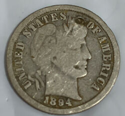 1894 Phil Mint Silver Barber Dime Fine Details Free Shipping With Five Items