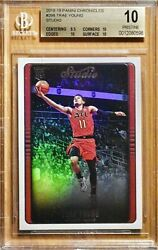 2018 Pop 1 Trae Young Rookie Rc Panini Chronicles Studio 298 Bgs 10 Pristine