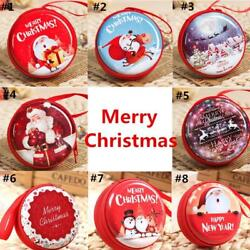 Box Coin Purse Round Red Purses Key Storage Merry Christmas Kids For Women Girls $5.70