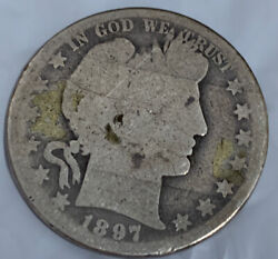 1897 O Silver Barber Half Dollar G+ Rare Date Free Shipping With Five Items
