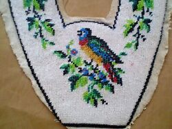 Antiques Unique Glass Beads Hand  Embroidered Motifs For Slipper Rare One Motif