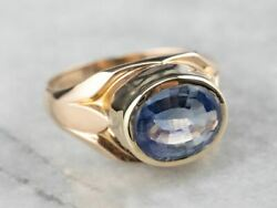 Bezel Set Sapphire Gold East To West Statement Ring