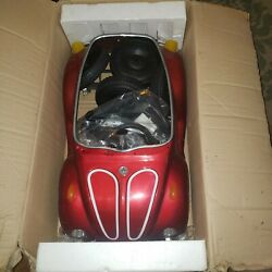 Vw Red Beetle Junior Sportster Metal Pedal Car Ts-110 Rare Nos New In Box