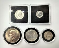 5 Coin Collection Us 1942 Nickel 71 Dollar Silver 76 Kennedy 76 Quarter 46 Dime