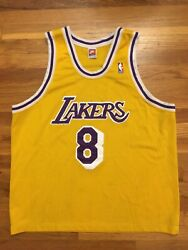 Authentic 1998 Nike Los Angeles Lakers Kobe Bryant Home Gold Jersey 52 2xl Xxl