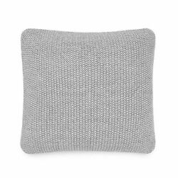 UGG Summer Knit Square Throw Pillow in Grey