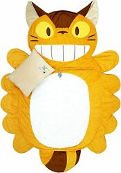 My Neighbor Totoro Cat Bus Sleeping Bag Bed Blanket Roll With Pillow From Jp